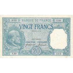 F 11-01 - 04/07/1916 - 20 francs - Bayard - Etat : SUP