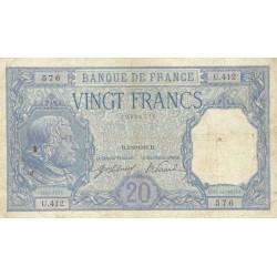 F 11-01 - 01/09/1916 - 20 francs - Bayard - Etat : TB+