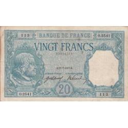 F 11-02 - 17/07/1917 - 20 francs - Bayard - Etat : TB+ à TTB-