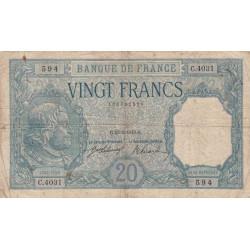 F 11-03 - 23/02/1918 - 20 francs - Bayard - Etat : TB