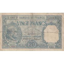 F 11-03 - 05/09/1918 - 20 francs - Bayard - Etat : TB