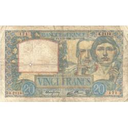 F 12-10 - 05/12/1940 - 20 francs - Science et Travail - Etat : B+