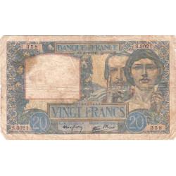 F 12-12 - 20/02/1941 - 20 francs - Science et Travail - Etat : B+