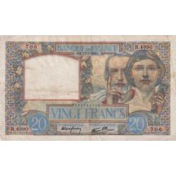 F 12-16 - 17/07/1941 - 20 francs - Science et Travail - Etat : TB+