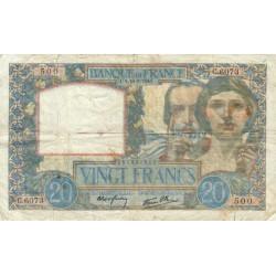 F 12-18 - 18/09/1941 - 20 francs - Science et Travail - Etat : TB-