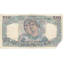F 41-01 - 12/04/1945 - 1000 francs - Minerve et Hercule - Etat : B-
