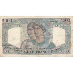 F 41-01 - 12/04/1945 - 1000 francs - Minerve et Hercule - Etat : TB-