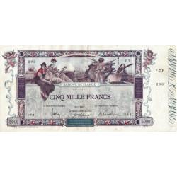 F 43-01 - 09/01/1918 - 5000 francs - Flameng - Etat : TTB-