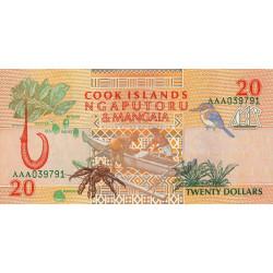 Cook (îles) - Pick 9 - 20 dollars - 1992 - Etat : NEUF