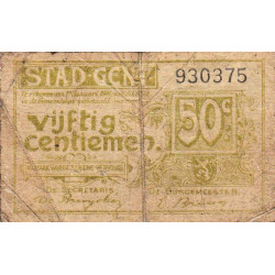 Belgique - Gand - GE63 - 50 centimes - 01/01/1916 - Etat : B
