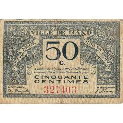 Belgique - Gand - GE67 - 50 centimes - 01/01/1917 - Etat : TTB