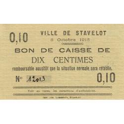 Belgique - Stavelot - ST51 - 10 centimes - 05/10/1915 - Etat : SPL à NEUF