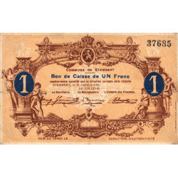 Belgique - Stemberg - ST128 - 1 franc - 15/10/1914 - Etat : TB+