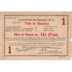 Belgique - Tournai -  TO61 - 1 franc - 1914 - Etat : TB