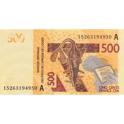 Côte d'Ivoire - Pick 119Ad - 500 francs - 2015 - Etat : NEUF