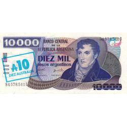 Argentine - Pick 322c - 10 australes sur 10'000 pesos argentinos - Série C - 1985 - Etat : NEUF