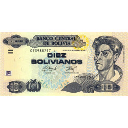 Bolivie - Pick 243 - 10 bolivianos - Loi 1986 (2015) - Etat : NEUF