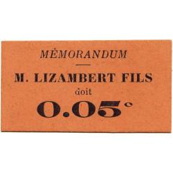 38 - Grenoble - Lizambert Fils - 5 centimes - 14/09/1917 - Etat : SPL
