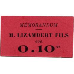 38 - Grenoble - Lizambert Fils - 10 centimes - 18/09/1917 - Etat : SPL