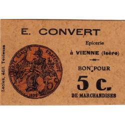 38 - Vienne - Epicerie E. Convert - 5 centimes - Etat : SPL