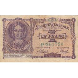 Belgique - Pick 86b - 1 franc - 1917 - Etat : TB+