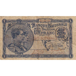 Belgique - Pick 92 - 1 franc - 04/03/1920 - Etat : TB