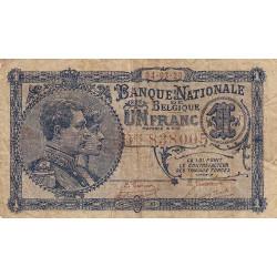 Belgique - Pick 92 - 1 franc - 1920 - Etat : TB