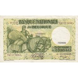 Belgique - Pick 106_4 - 50 francs ou 10 belgas - 1943 - Etat : TTB