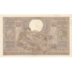 Belgique - Pick 107_1 - 100 francs ou 20 belgas - 09/07/1935 - Etat : TTB+