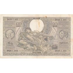 Belgique - Pick 107_2 - 100 francs ou 20 belgas - 23/12/1936 - Etat : TB+