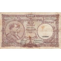 Belgique - Pick 111_1 - 20 francs - 20/03/1940 - Etat : TB-