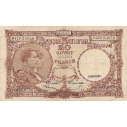 Belgique - Pick 111_5 - 20 francs - 06/05/1947 - Etat : TB
