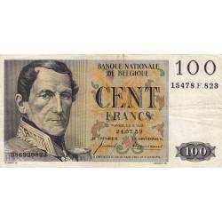 Belgique - Pick 129c - 100 francs - 24/07/1959 - Etat : TTB-