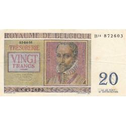 Belgique - Pick 132b - 20 francs - 03/04/1956 - Etat : TTB+