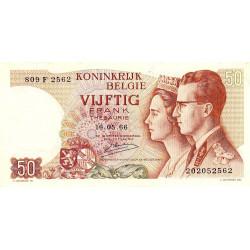 Belgique - Pick 139_3 - 50 francs - 15/06/1966 (1976) - Etat : SUP
