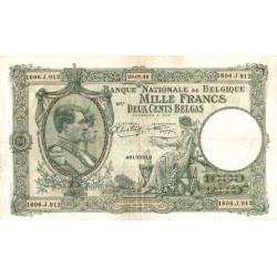 Belgique - Pick 110_2 - 1'000 francs ou 200 belgas - 1942 - Etat : SUP