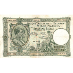 Belgique - Pick 110_2 - 1'000 francs ou 200 belgas - 29/07/1942 - Etat : SUP