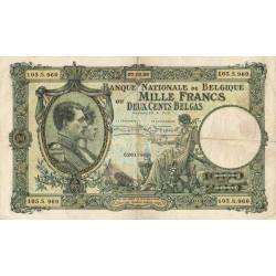 Belgique - Pick 104_1 - 1'000 francs ou 200 belgas - 07/03/1929 - Etat : TB+
