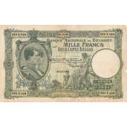 Belgique - Pick 104_1 - 1'000 francs ou 200 belgas - 06/12/1930 - Etat : TB