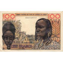 Côte d'Ivoire - Pick 101Ae - 100 francs - Série T.222 - 02/03/1965 - Etat : TTB