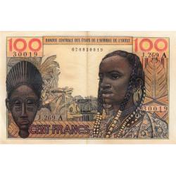 Côte d'Ivoire - Pick 101Ag - 100 francs - Série J.269 - 1966 - Etat : TTB