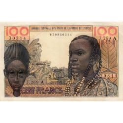 Côte d'Ivoire - Pick 101Ag - 100 francs - 1966 - Etat : TTB