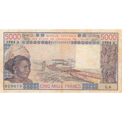 Côte d'Ivoire - Pick 108Al - 5'000 francs - Série L.6 - 1984 - Etat : TB-