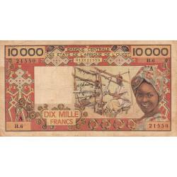 Côte d'Ivoire - Pick 109Ad-1- 10'000 francs - 1977 - Etat : TB-