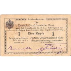 Afrique de l'Est Allemande - Pick 19 - 1 rupie - Série F3 - 01/02/1916 - Etat : TTB