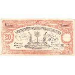 Afrique Occidentale Britannique - Pick 8b faux - 20 shillings - Série 6/K - 21/06/1947 - Etat : TTB