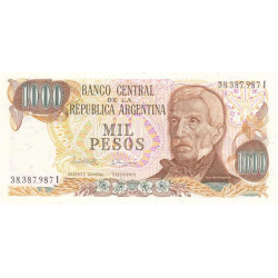 Argentine - Pick 304d1 - 1'000 pesos - Série I - 1983 - Etat : NEUF