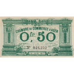 Agen - Pirot 2-7 - 50 centimes - 14/06/1917 - Etat : SPL