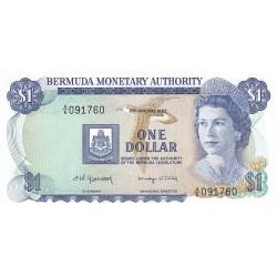Bermudes - Pick 28b_3 - 1 dollar - 02/01/1982 - Série A/6 - Etat : NEUF