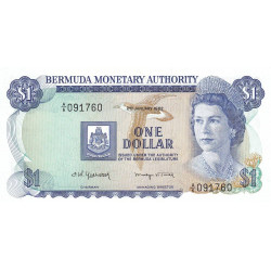 Bermudes - Pick 28b_3 - 2 dollars - 1982 - Etat : NEUF